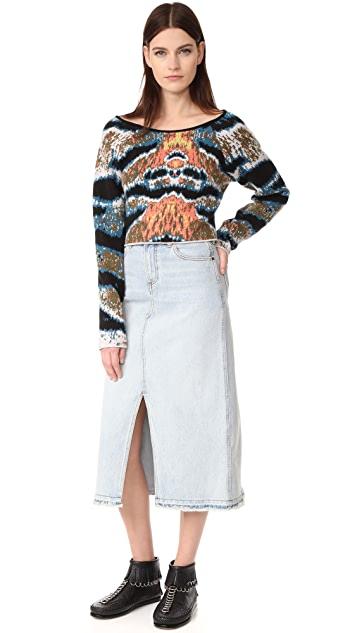 Baja East Cropped Cashmere Sweater