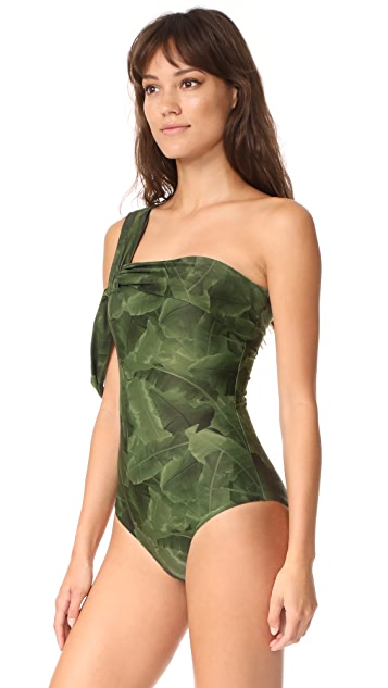 Baja East Drape Shoulder One Piece