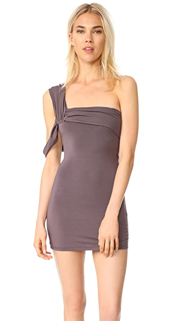 Baja East One Shoulder Dress