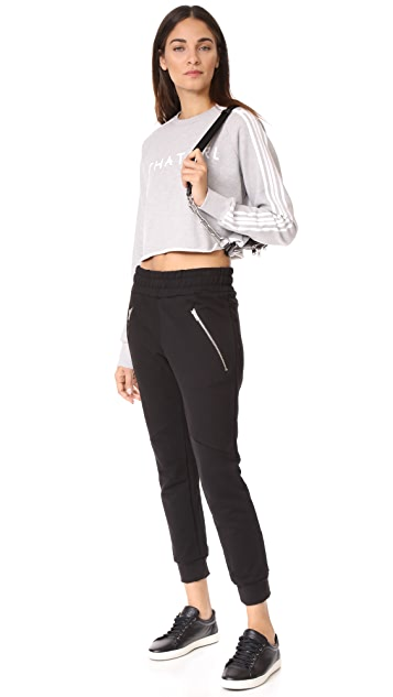 Baja East LS Cropped Sweatshirt