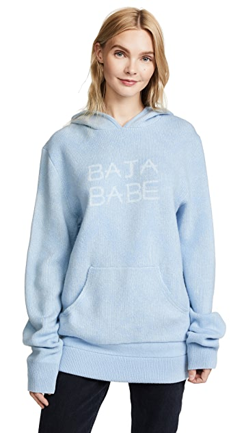 Baja East Cashmere Pullover Hoodie