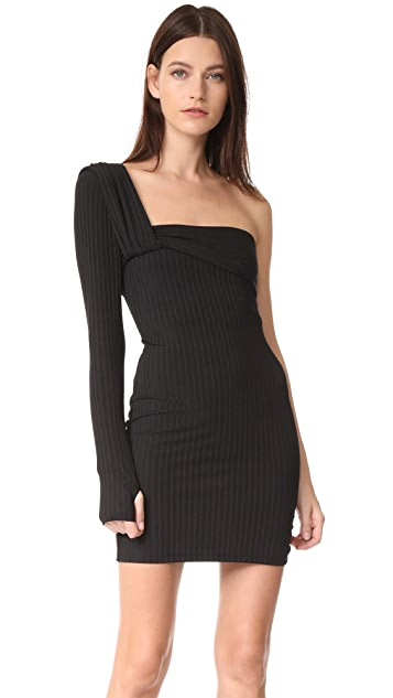 Baja East One Sleeve Dress - Embassy