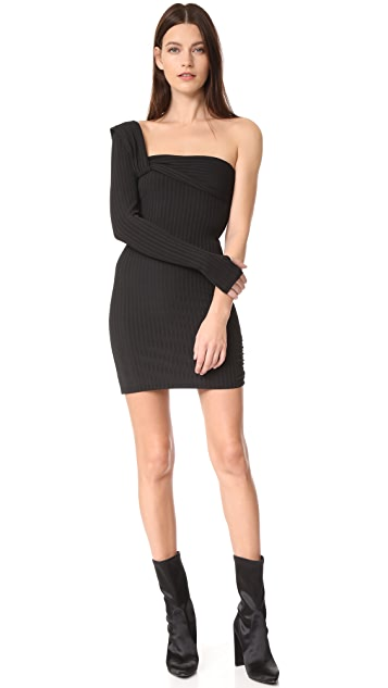 Baja East One Sleeve Dress