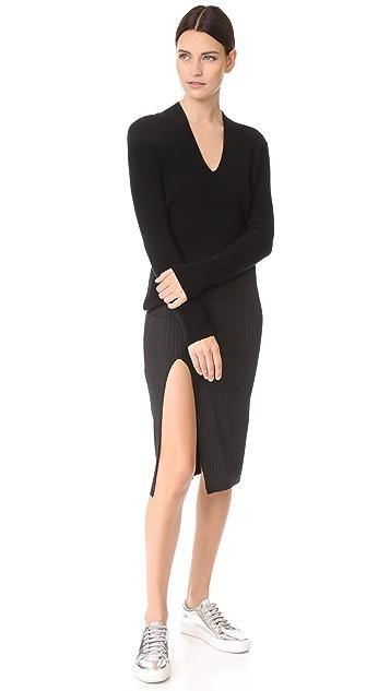 Baja East Slit Skirt