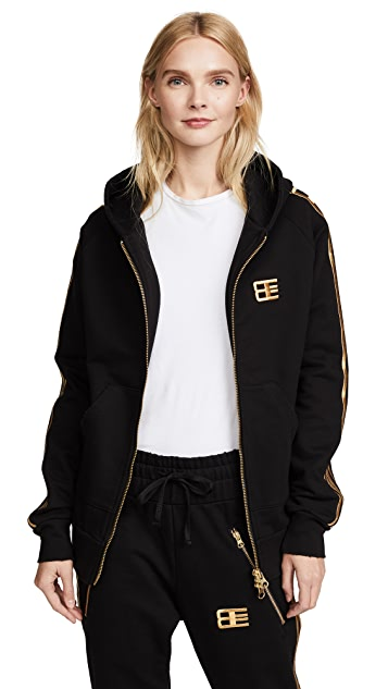 Baja East Zip Up Hoodie