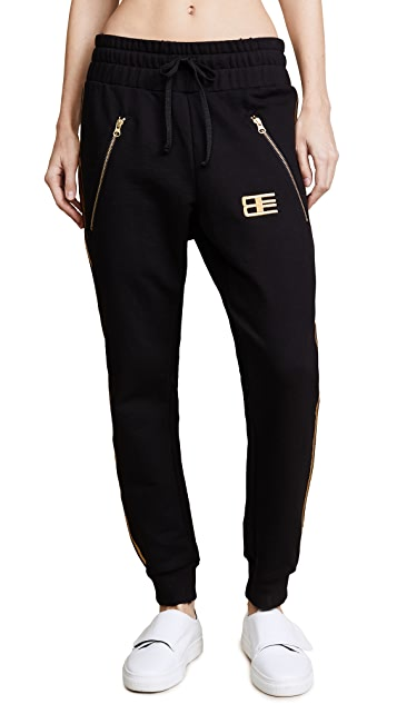 Baja East Drawstring Pants with Zip Pockets