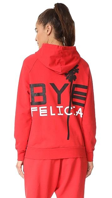 Baja East Bye Felicia Zip Up Hoodie