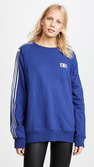 Baja East Embroidered Crew Sweatshirt