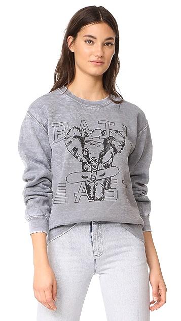 Baja East Elephant Crew Sweatshirt