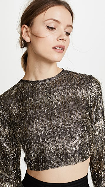 Baja East Tie Back Top - Sparkle