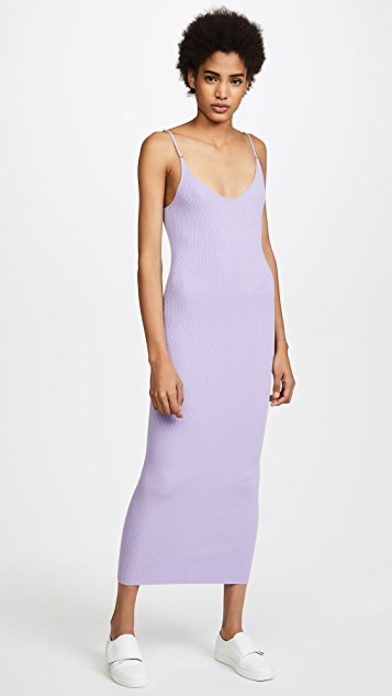 Baja East The Kim Dress - Lilac