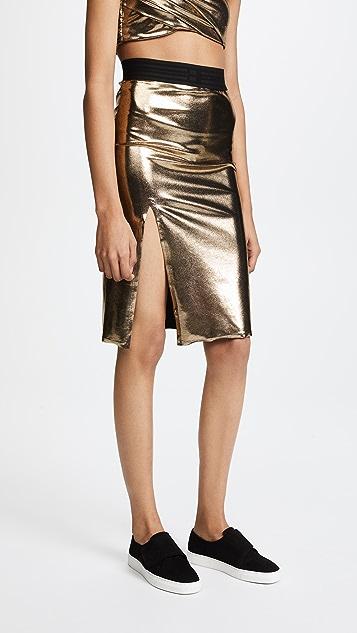 Baja East Slit Midi Skirt