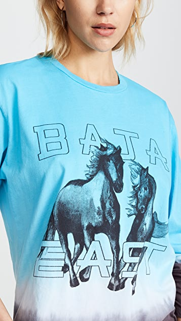 Baja East Long Sleeve Freedom Crewneck