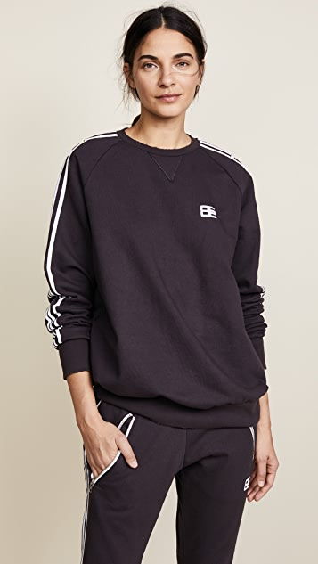 Baja East Be Stripe Crew - Charcoal