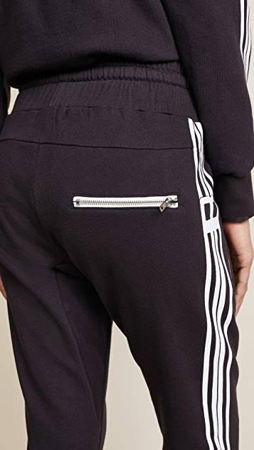 Baja East Be Stripe Moto Sweats
