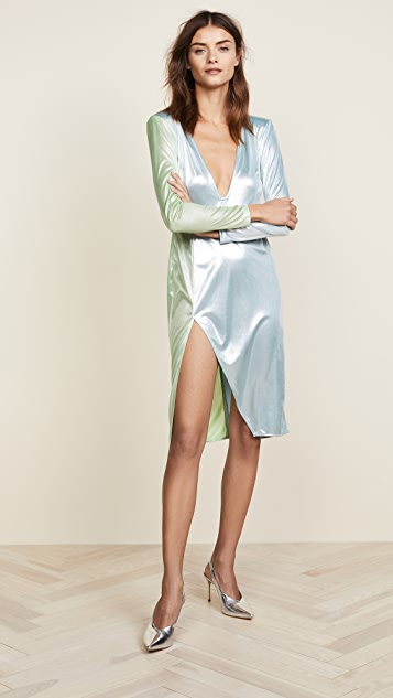 Baja East Long Sleeve Duckie Dress