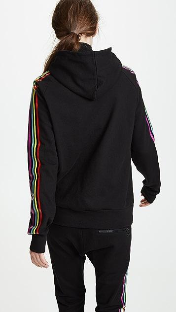 Baja East Be Stripe Zip Hoodie