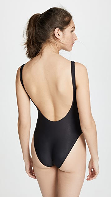 Baja East Baewatch Horses One Piece Swimsuit