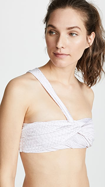 Baja East Wrap Bandeau Top
