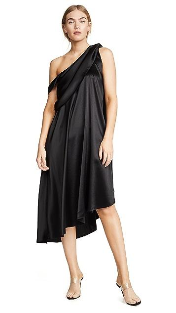 Baja East Платье с драпировкой и запахом
