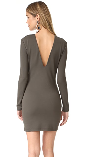 Bec & Bridge Long Sleeve Reversible Mini Dress