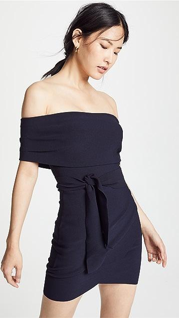 Bec & Bridge Bonded Crepe Tie Dress