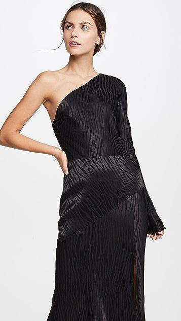 Bec & Bridge Асимметричное миди-платье Kat