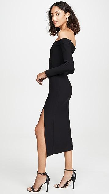 Bec & Bridge Миди-платье Elke с открытыми плечами