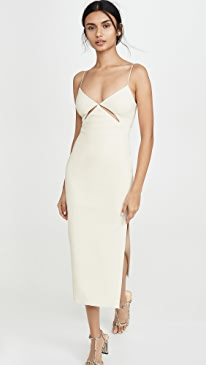 Ulla Cut Out Midi Dress