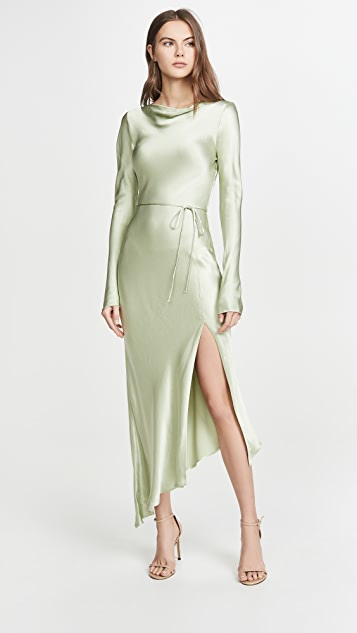Bec & Bridge Crest Long Sleeve Midi Dress