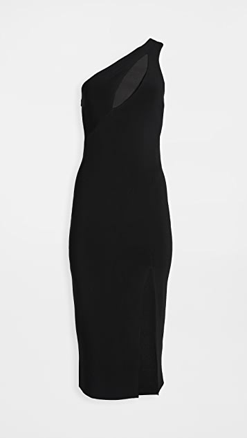Bec & Bridge Emerald Avenue Asymmetric Midi Dress