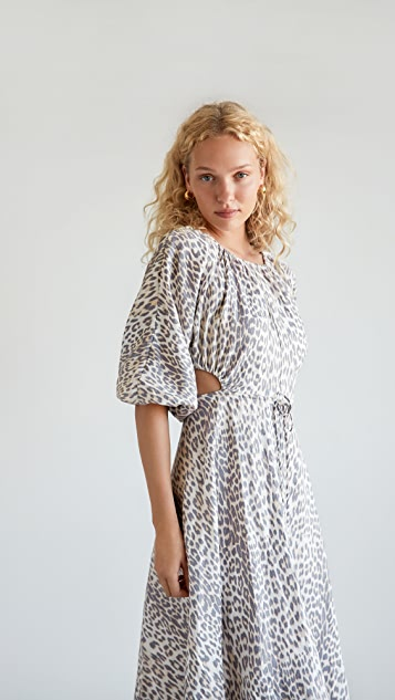 Bec & Bridge Ocelot Midi Dress