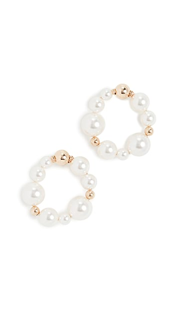 Beck Jewels Sole OG Imitation Pearl Studs