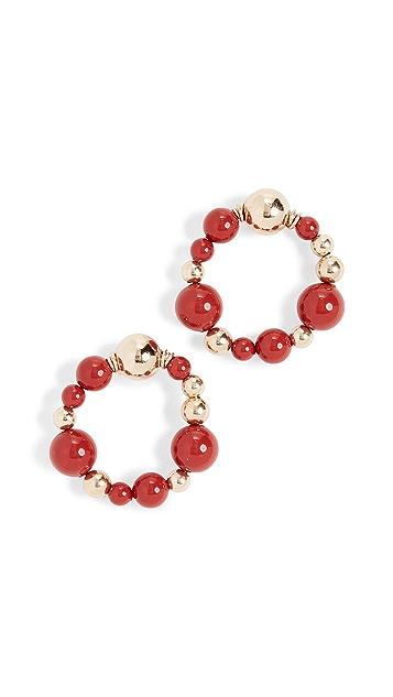 Beck Jewels Crimson Coral Fiuggi OG Studs