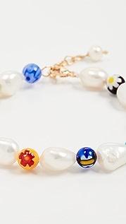 Beck Jewels 千花玻璃和珍珠手镯