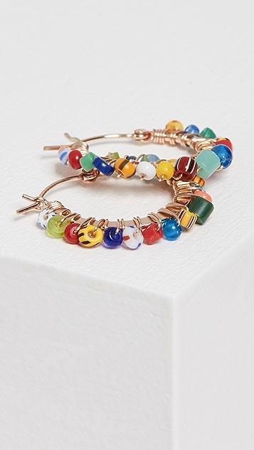 Beck Jewels Small Tutti Frutti Parker 圈式耳环