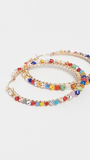 Beck Jewels Large Tutti Frutti Parker Hoops
