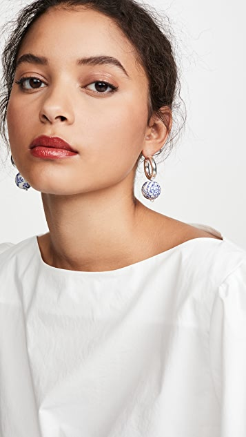 Beck Jewels Blauw Silver Large Hoops
