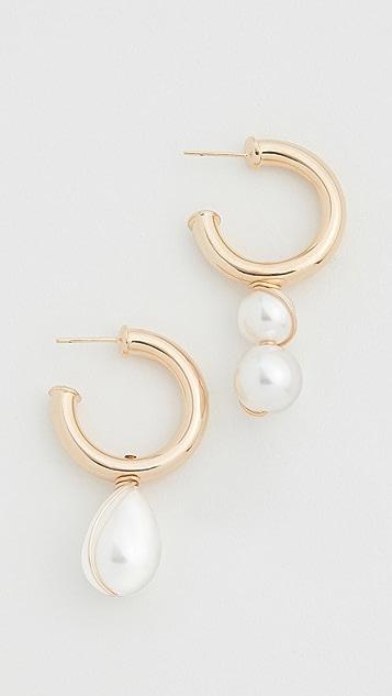 Beck Jewels Arcilla Alma 圈式耳环