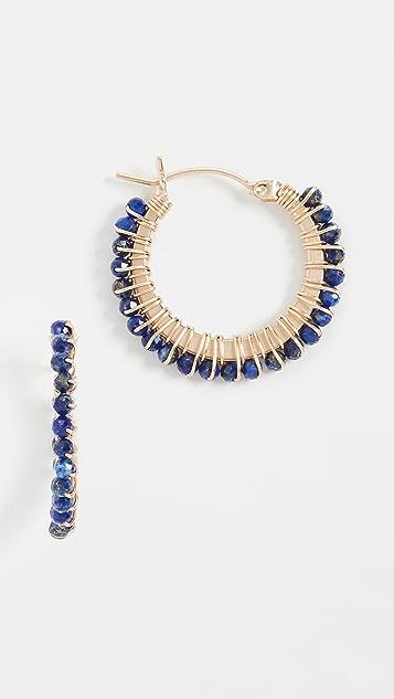 Beck Jewels Small Parker Hoop Gemstones