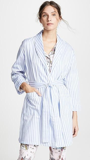 Пижама BedHead Халат в синюю полоску