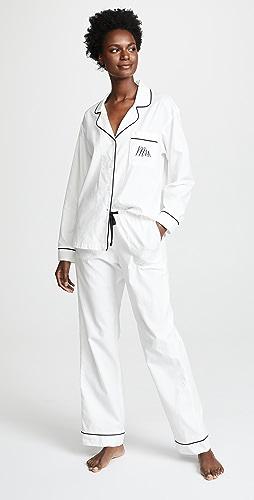 BedHead Pajamas - Embroidered Mrs. Classic Pajama Set