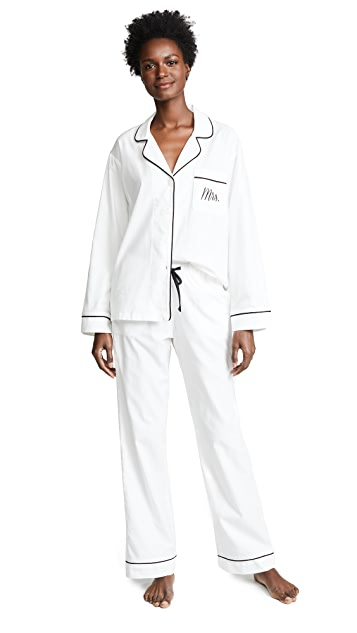 Bedhead Embroidered Mrs. Classic Pajama Set