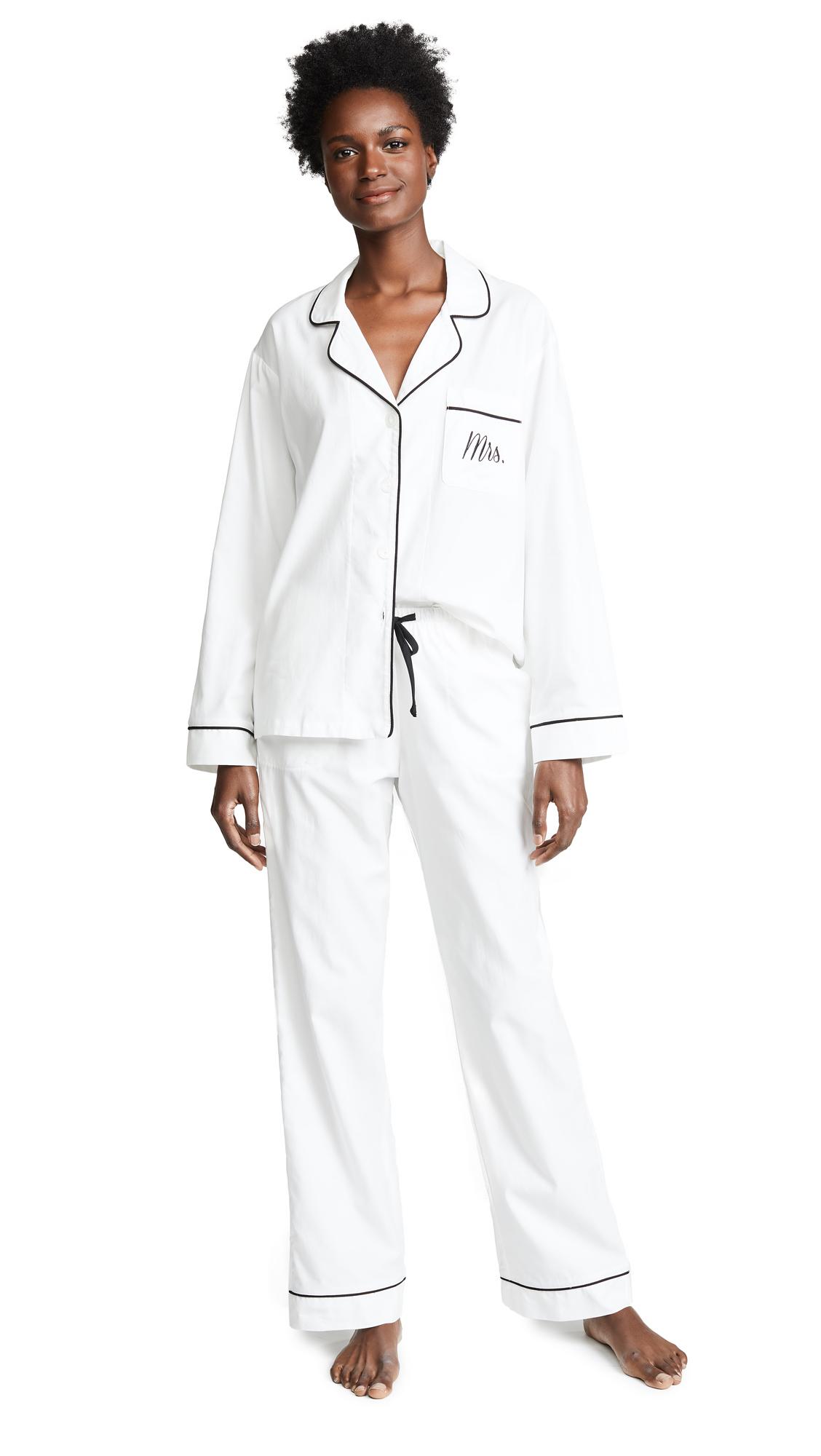 BedHead Pajamas Embroidered Mrs. Classic Pajama Set