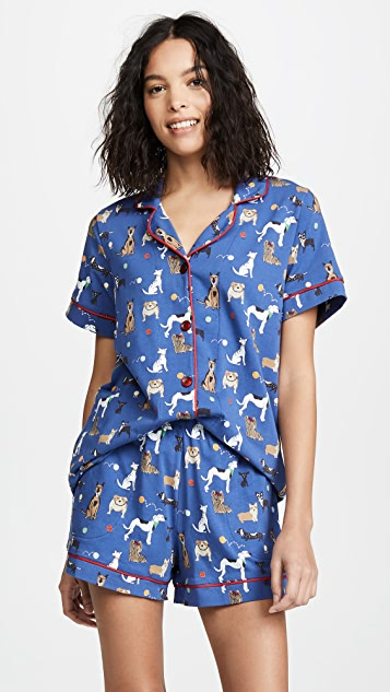 Dog Park Short Sleeve Pj Set by Bed Head Pajamas