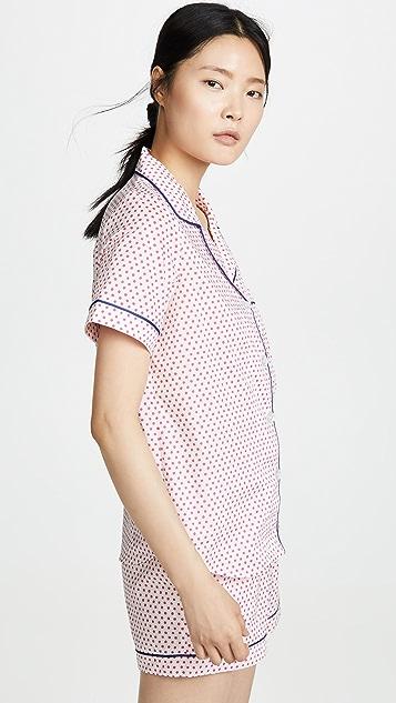 Пижама BedHead Классическая пижама Jill с шортами в горошек