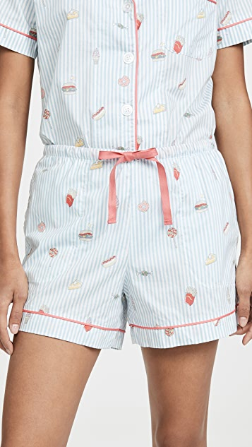 BedHead Pajamas Sweet And Savory Classic Shorts PJ Set