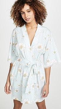 Bridal Floral Kimono Robe
