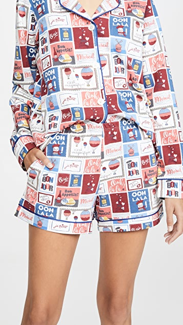 BedHead Pajamas Special Delivery Shorts PJ Set