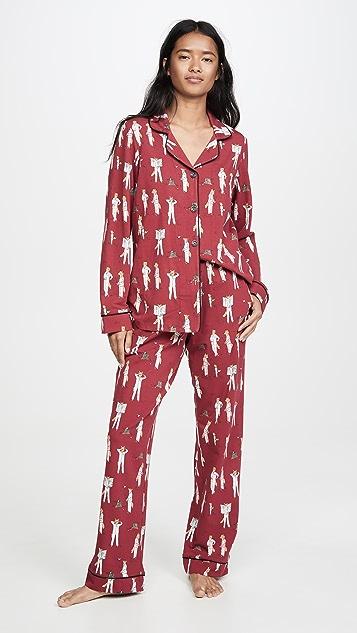 Пижама BedHead Классическая пижама Foxes